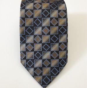 Pronto Uomo 100% Silk  Geometric Men's Necktie